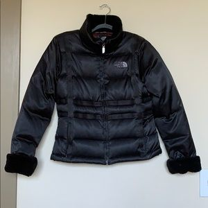 The North Face Jackets & Coats - sz S North Face black down puffer jacket+faux fur